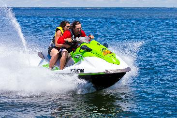 man and woman on jet ski in destin