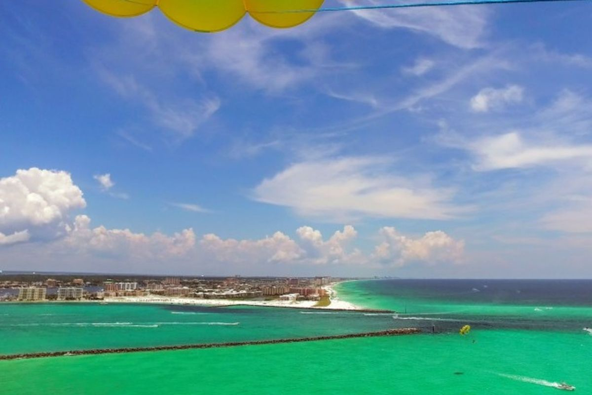 City views spotted while parasailing in Destin