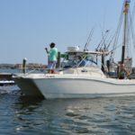 Private fishing charter in the Destin Harbor