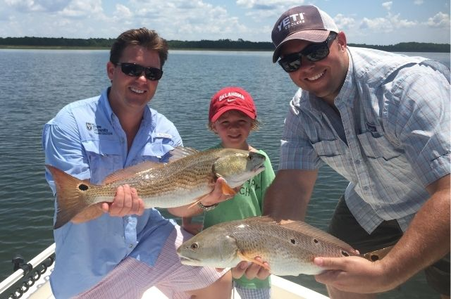 Redfish caught on a Destin inshore fishing charter