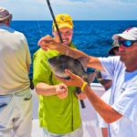 Triggerfish caught on a Destin semi-private fishing charter