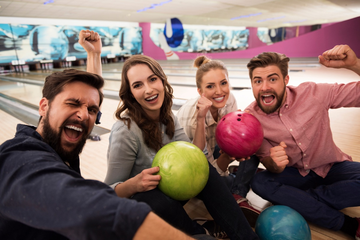 bowling with friends in Destin, Florida