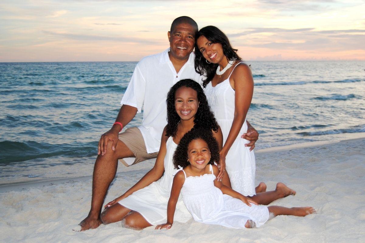 family photo shoot on the beach in Destin