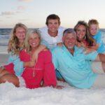 family photo taken at the beach in Destin-FWB