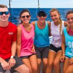 small group on a semi-private fishing charter in Destin