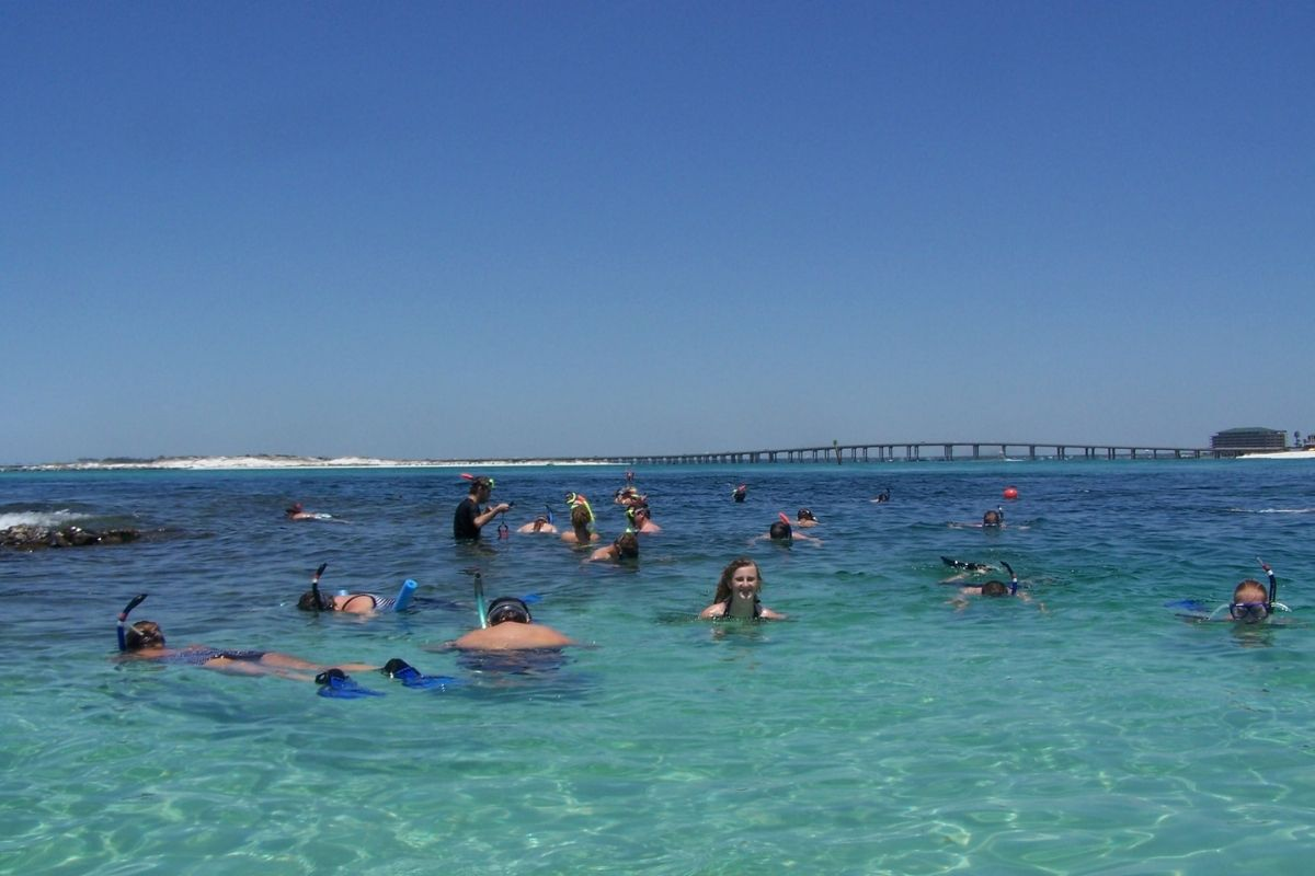 snorkeling and sightseeing in Destin, FL