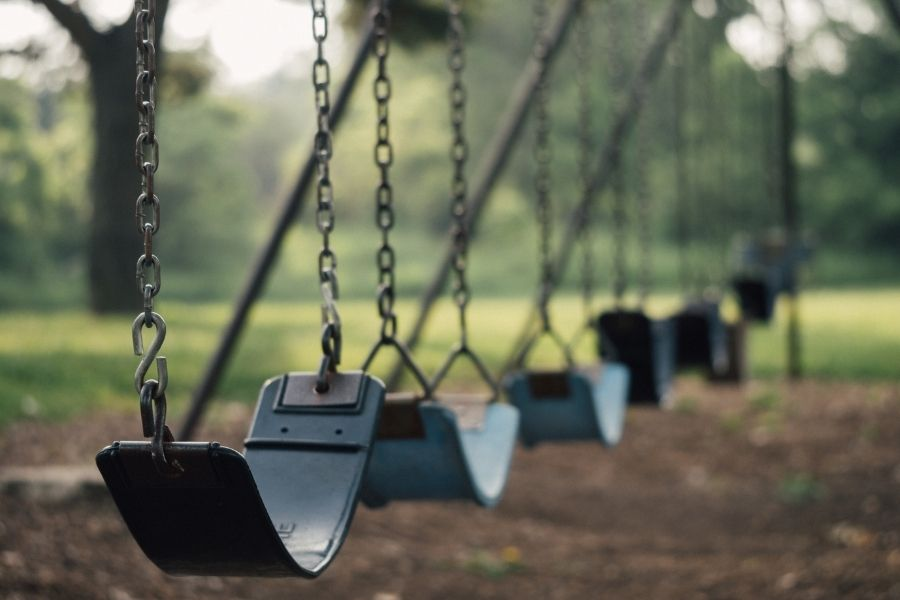 Swings at Buck Destin Park