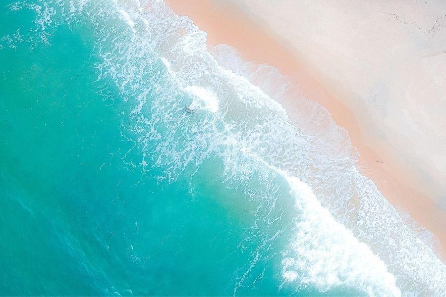 aerial view of the beach in Destin-FWB