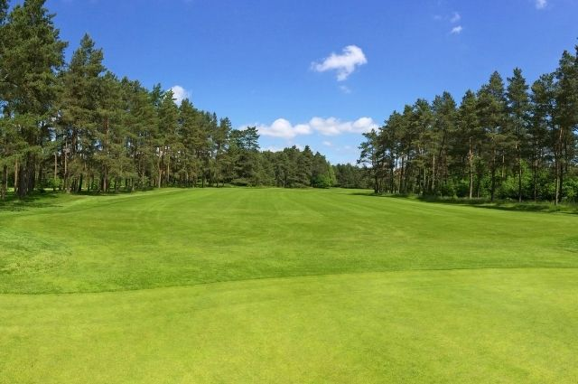 beautifully landscaped golf course
