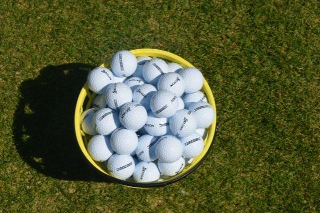 bucket of golf balls at Golf Garden of Destin