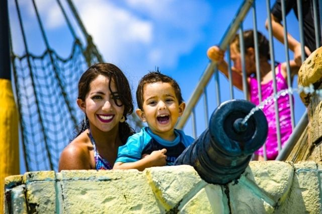 children's play area at Big Kahuna's Water Park in Destin