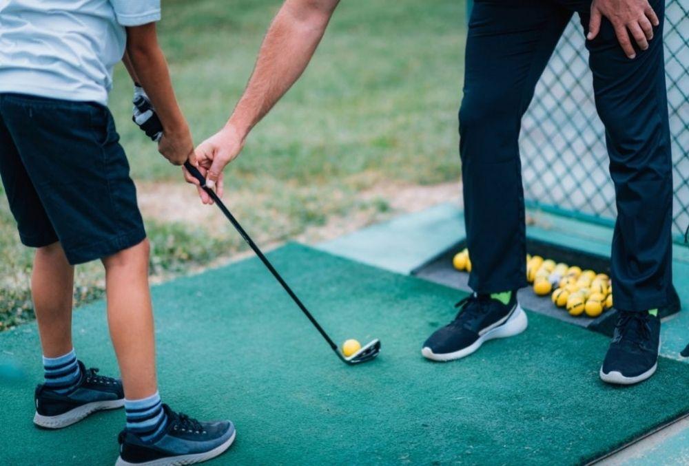 family bonding while golfing in Destin-FWB
