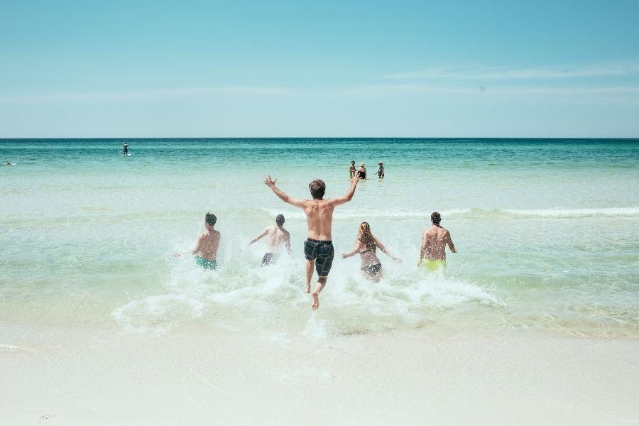 family fun at the beach in Destin-FWB