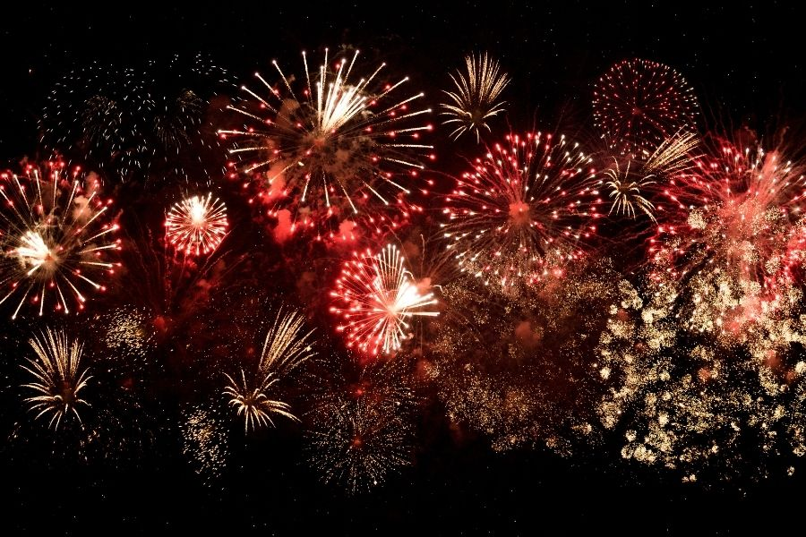 fireworks show in downtown Fort Walton Beach