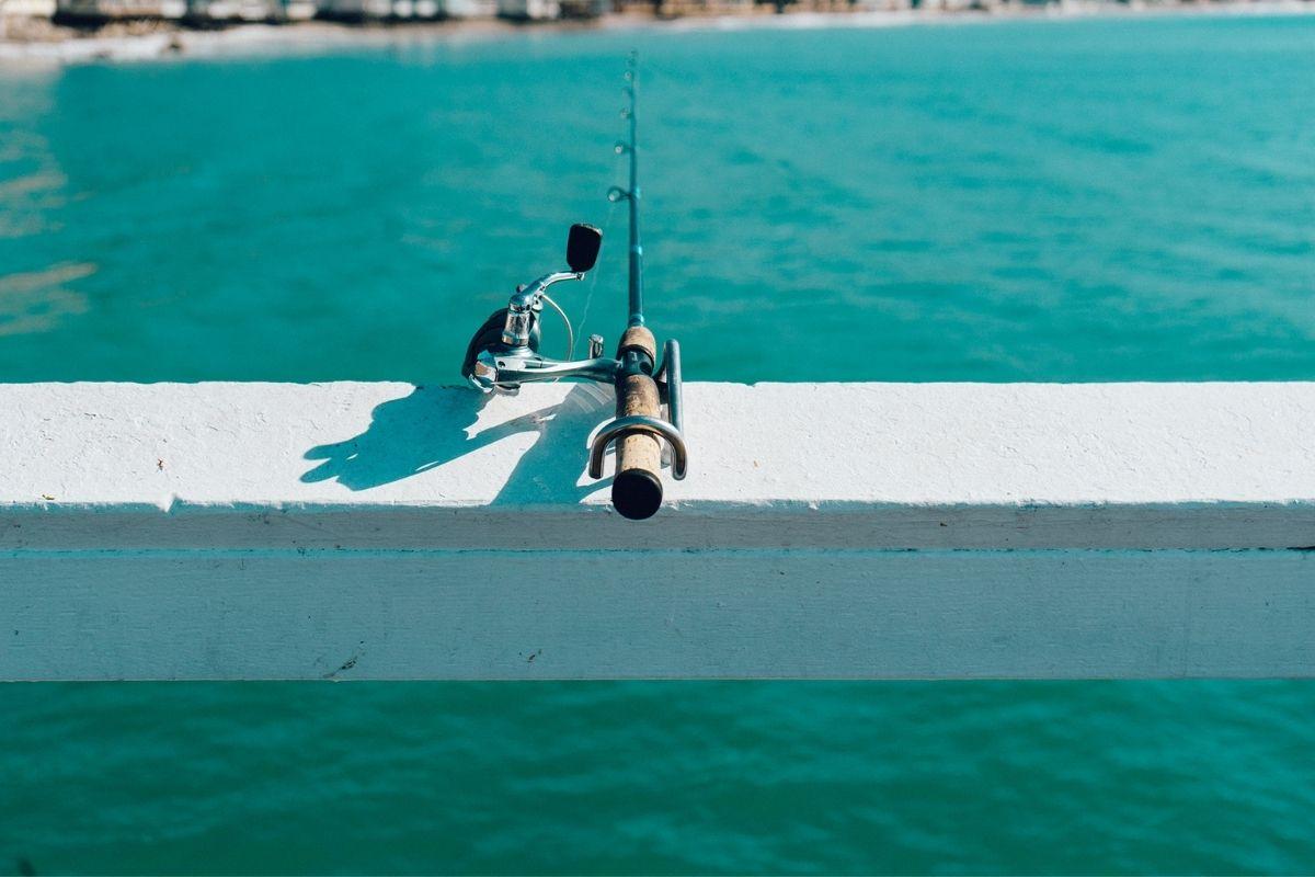 fishing pole on The Island Pier