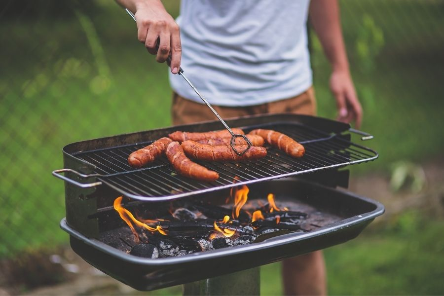 grilling at Clement Taylor Park in Destin