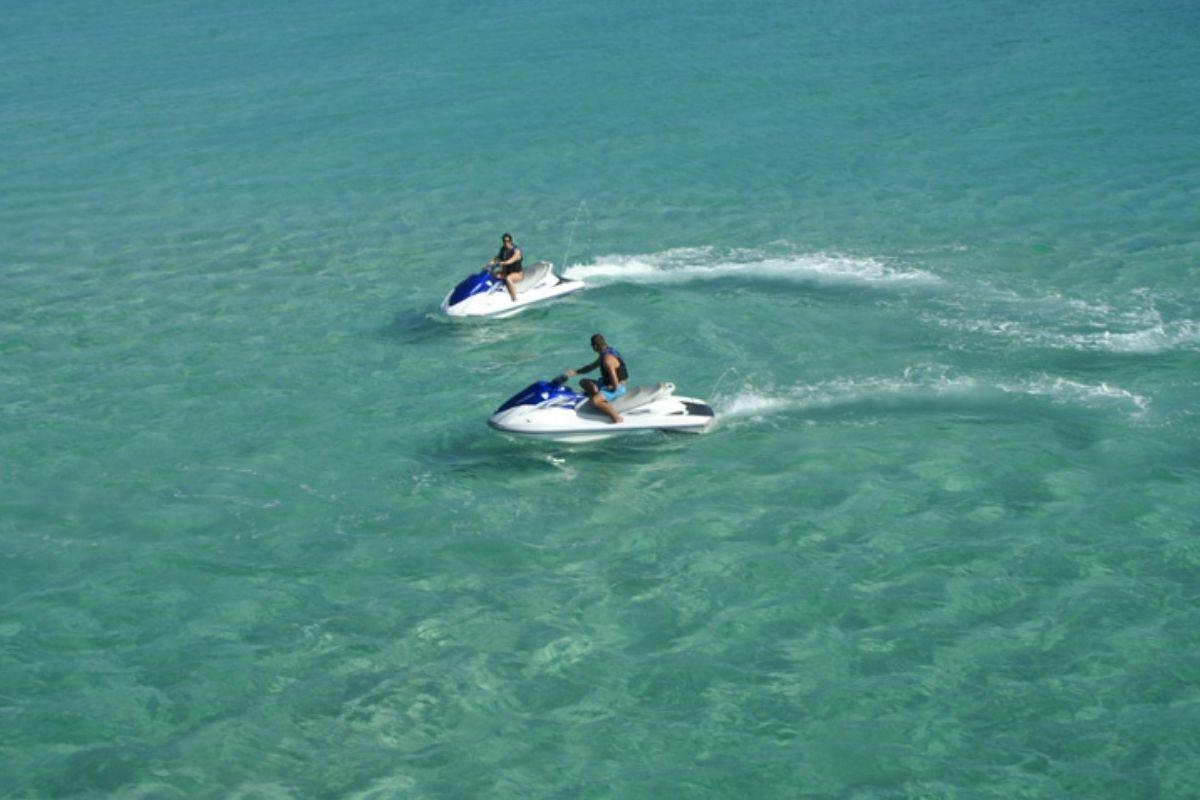 jet skis at Crab Island in Destin