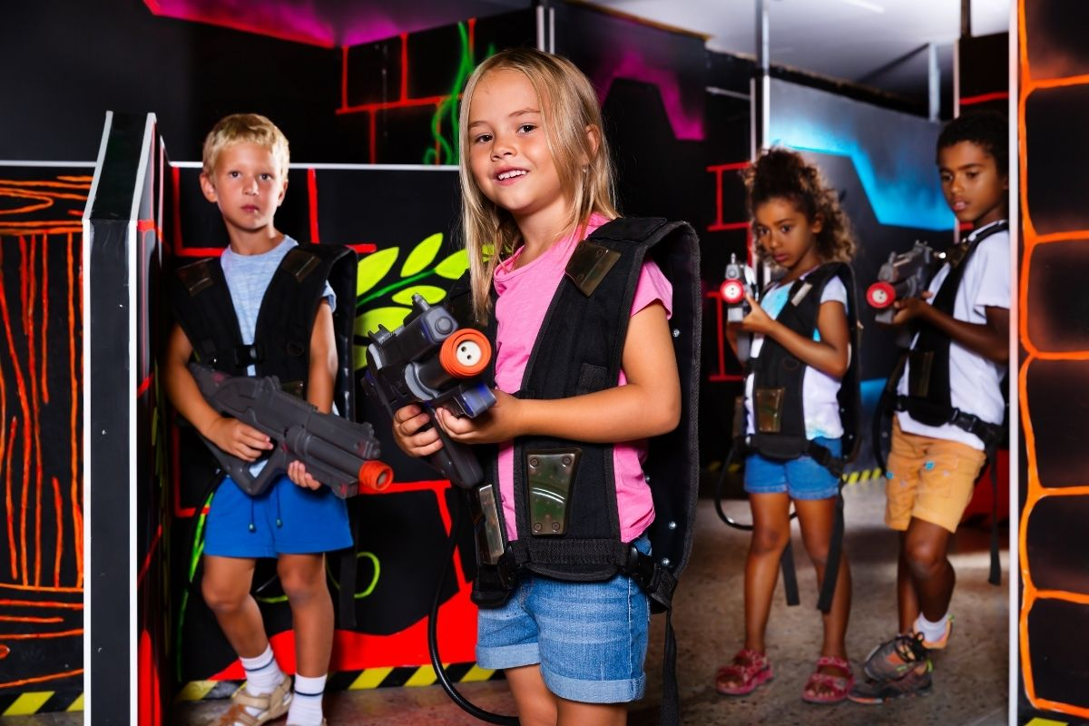 laser tag at Wild Willy's Adventure Zone