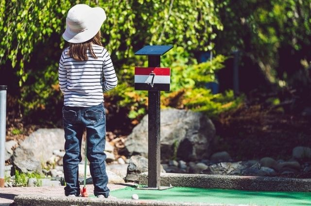 mini golf course at Wild Willy's Adventure Zone