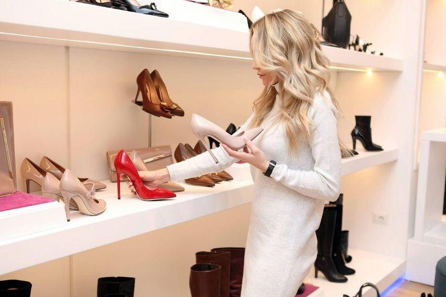 shoe shopping at Grand Boulevard