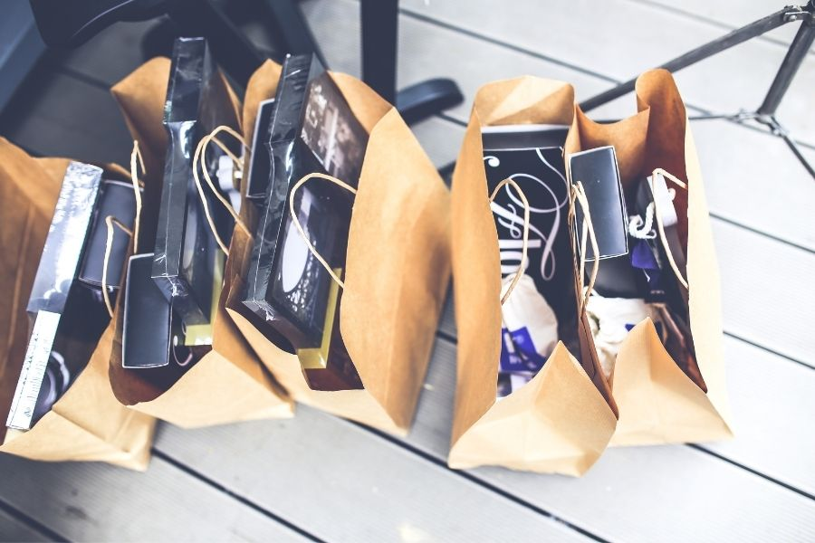 shopping at the Okaloosa Island Boardwalk