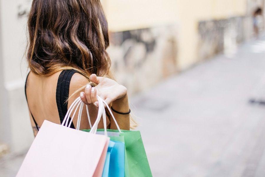 shopping in downtown FWB