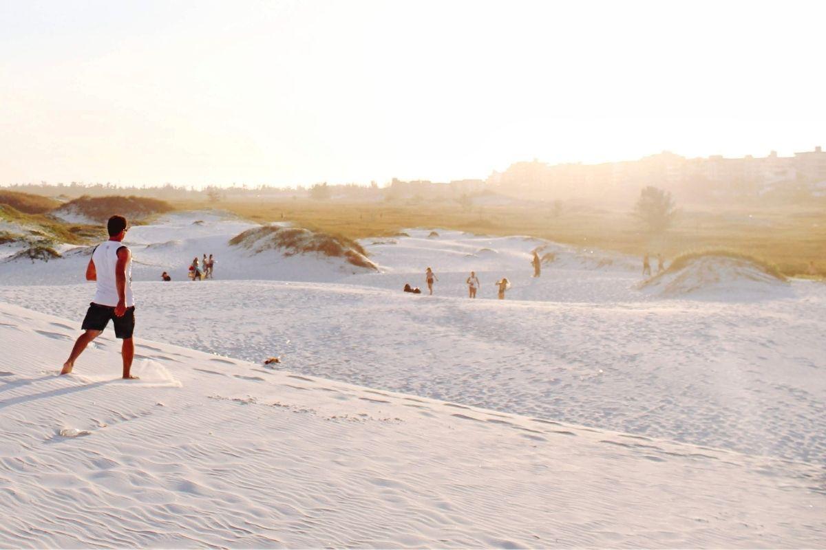 soft white sand